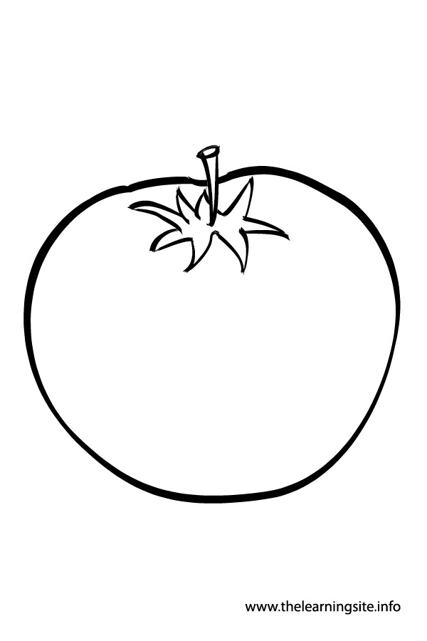 coloring tomato outline tomato 1 coloring page supercoloringcom coloring tomato outline