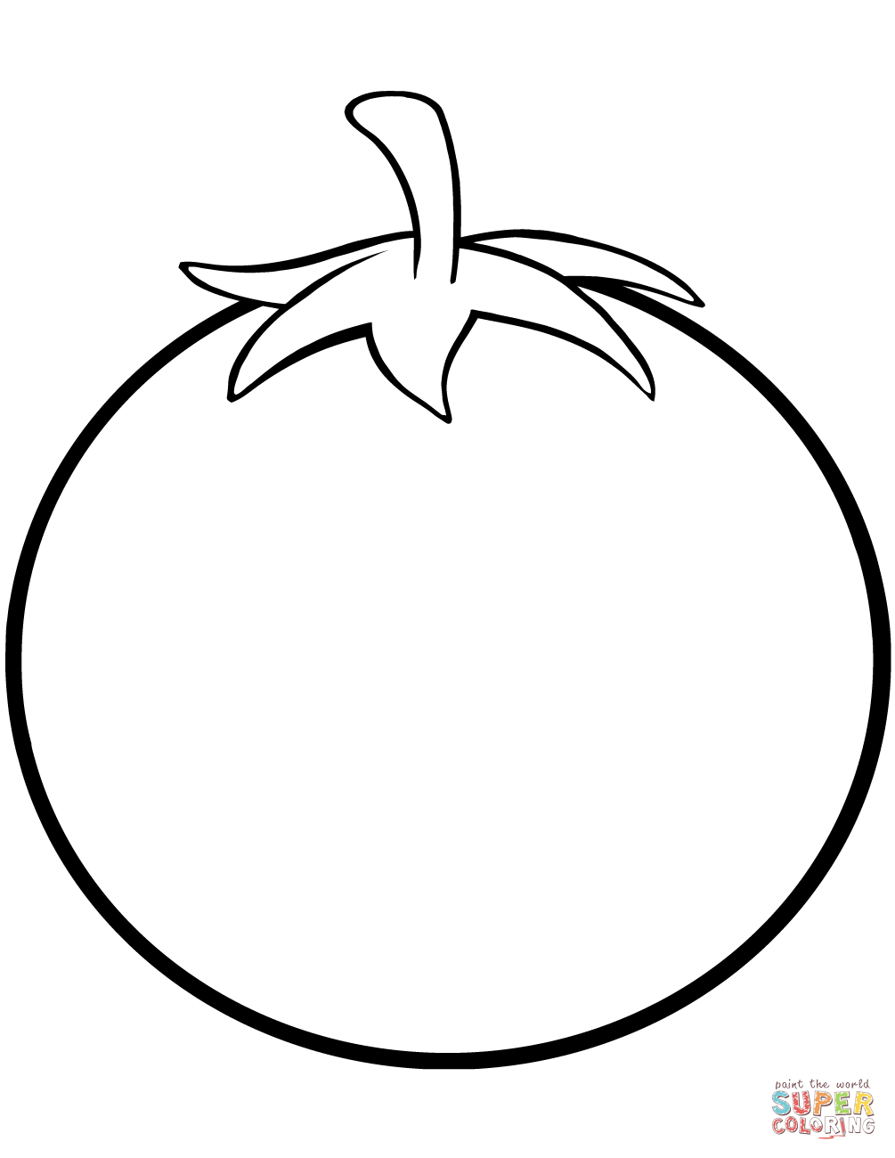 coloring tomato outline tomato coloring page free printable coloring pages outline tomato coloring