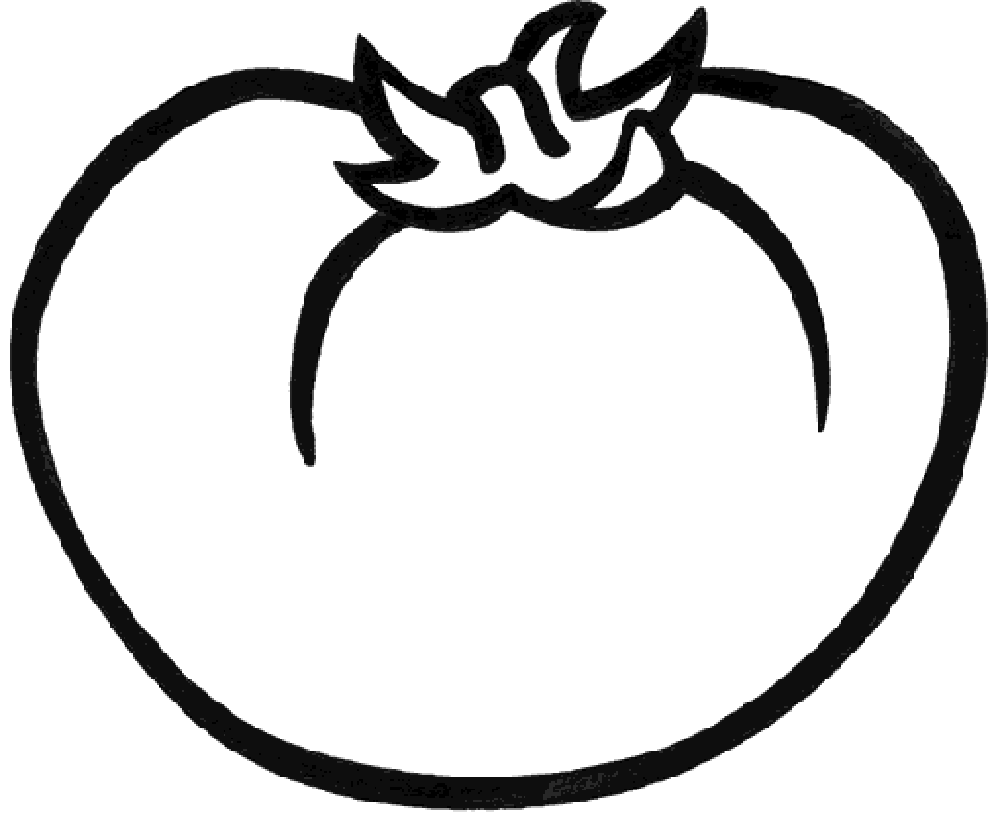 coloring tomato outline tomato line drawing at getdrawings free download tomato coloring outline