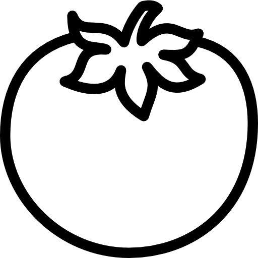 coloring tomato outline tomato slice drawing at getdrawings free download coloring tomato outline