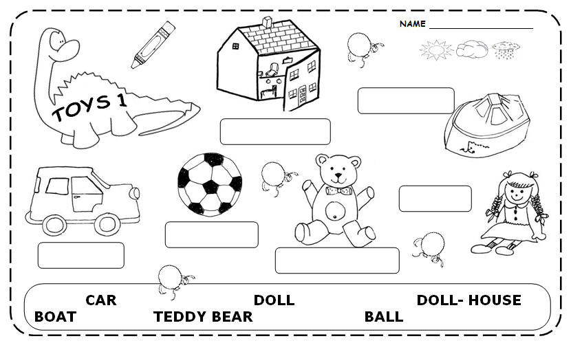 coloring toy worksheet toys cut color with vocabulary and letters esl worksheet coloring worksheet toy