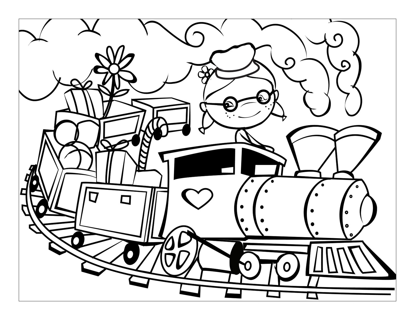 coloring train steam locomotive coloring page clrg train coloring