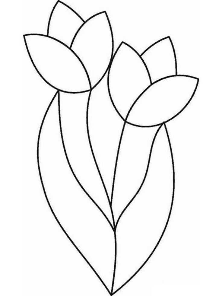 coloring tulip template 14 tulip coloring page print color craft tulip coloring template