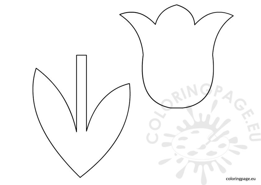 coloring tulip template 6 best images of 3d tulip template printable tulip tulip template coloring