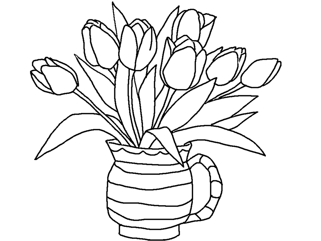 coloring tulip template tulip flower template clipart best tulip coloring template