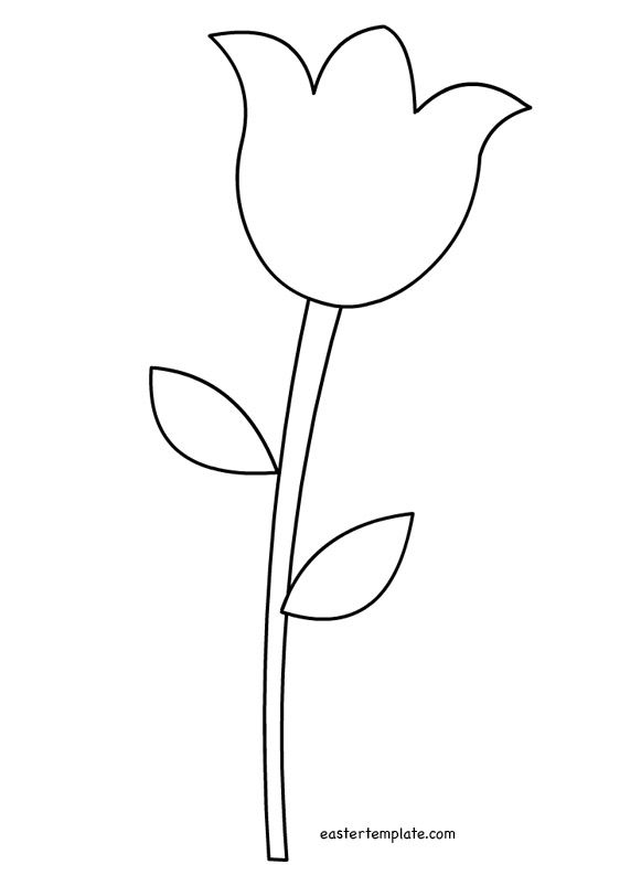 coloring tulip template tulip template printable tulip flower template printable tulip template coloring