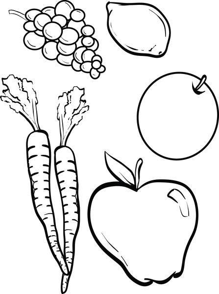 coloring vegetables and fruits coloring pages for kids fruits and vegetables cute fruit and coloring vegetables fruits