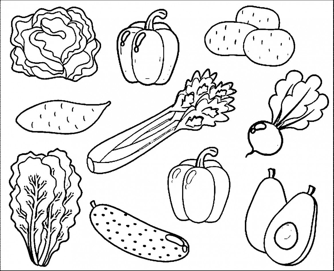 coloring vegetables and fruits fruit and vegetables coloring pages for kids printable fruits vegetables and coloring