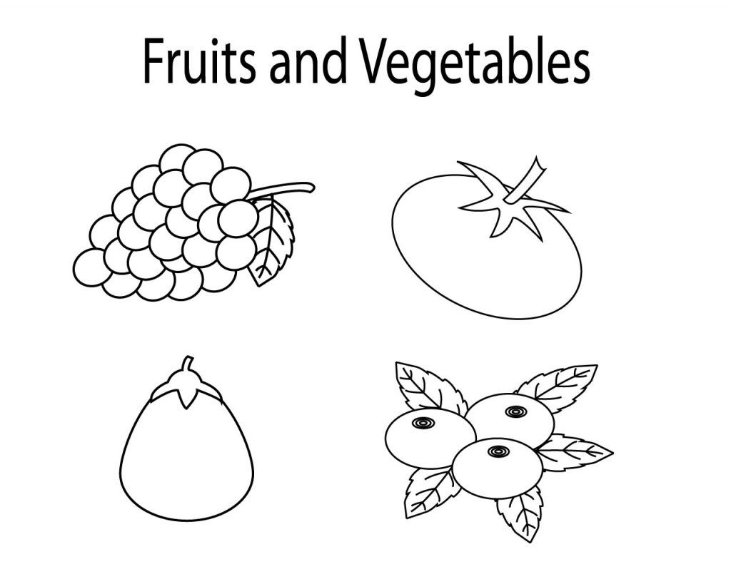 coloring vegetables and fruits fruit and vegetables coloring pages for kids printable fruits vegetables and coloring 1 1