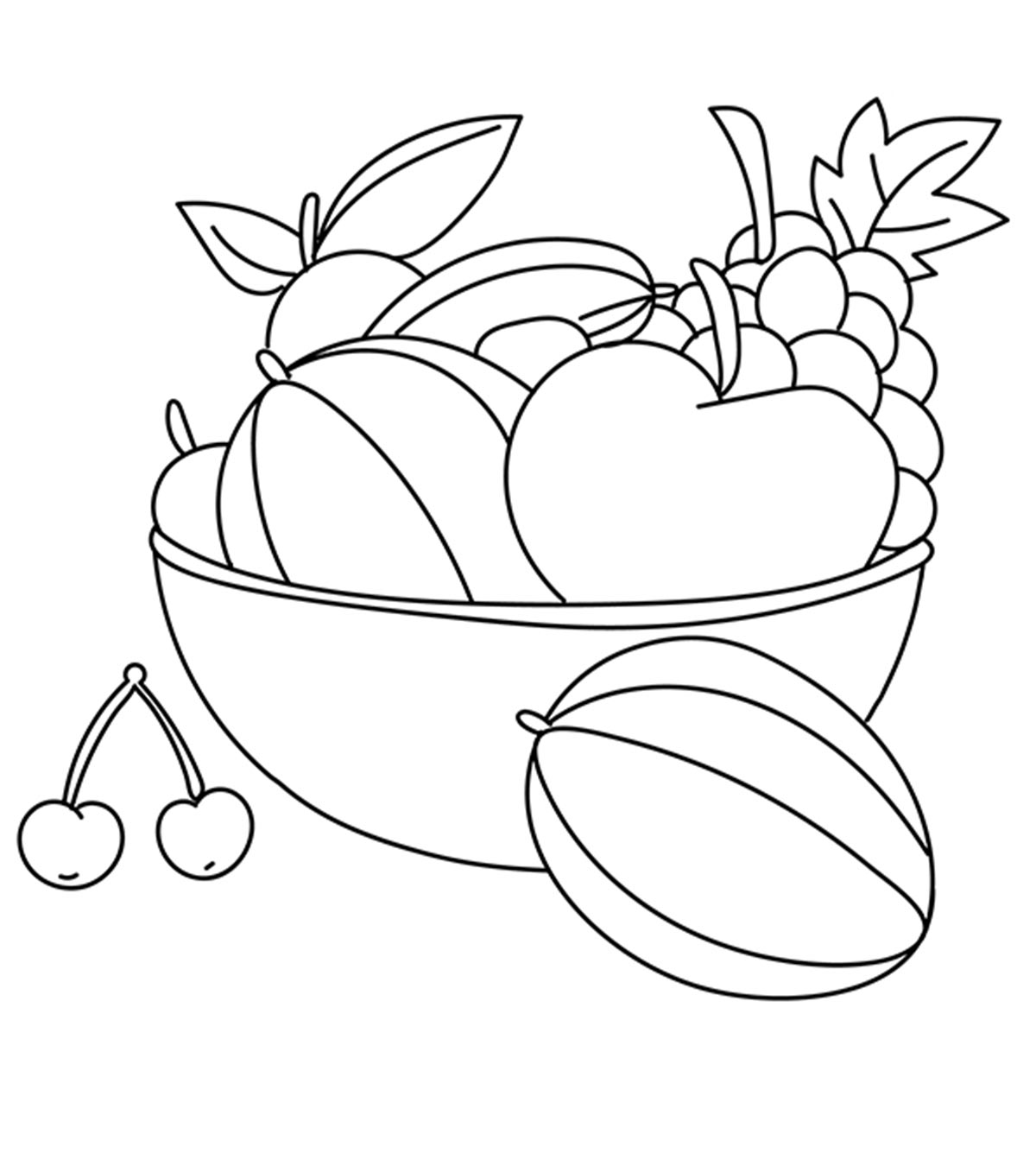 coloring vegetables and fruits fruit coloring pages at getdrawings free download fruits vegetables and coloring