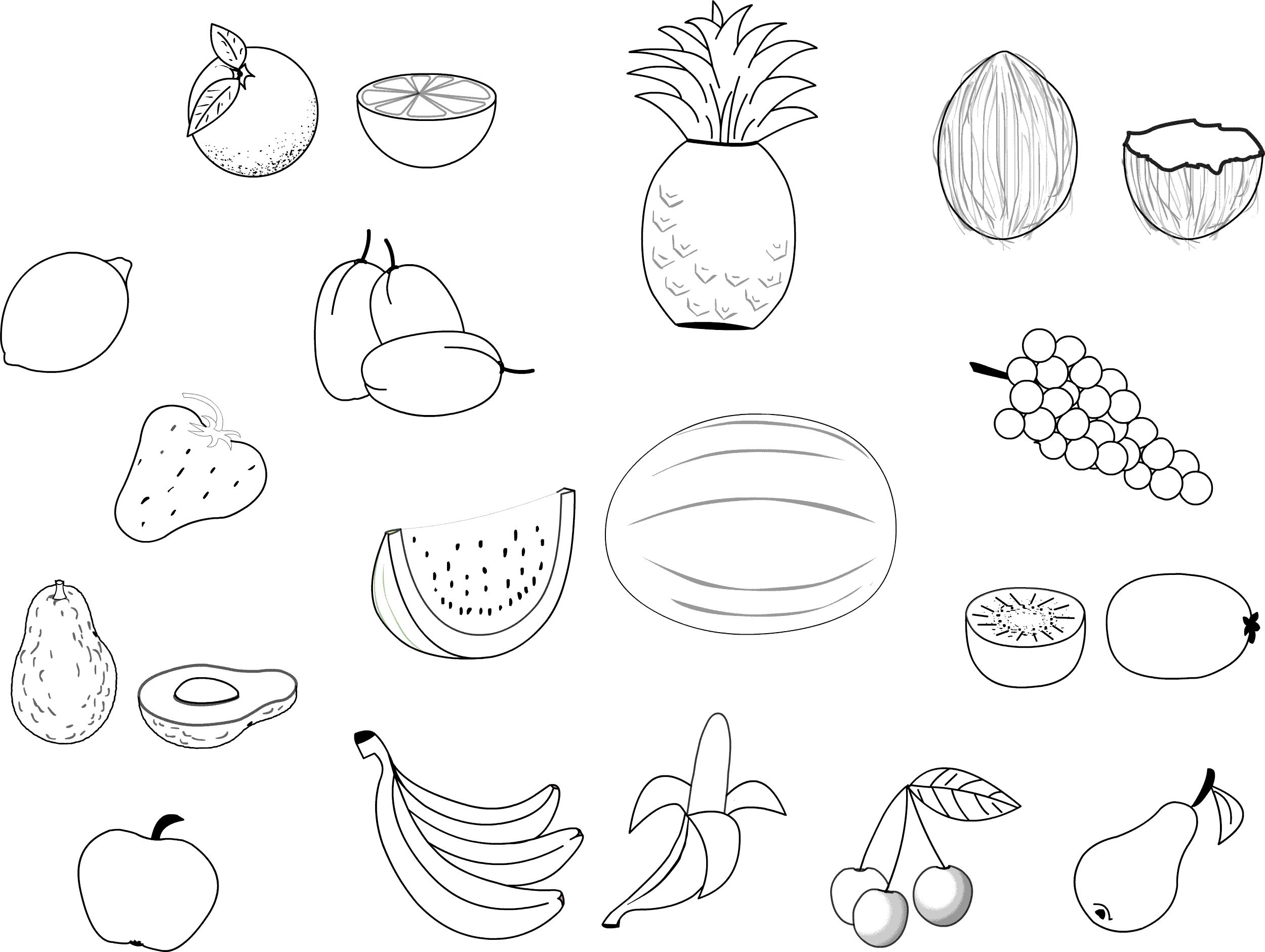 coloring vegetables and fruits fruits and vegetables free to color for kids fruits and coloring vegetables fruits and