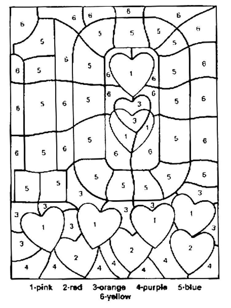 coloring with numbers printable free printable color by number coloring pages best printable coloring numbers with
