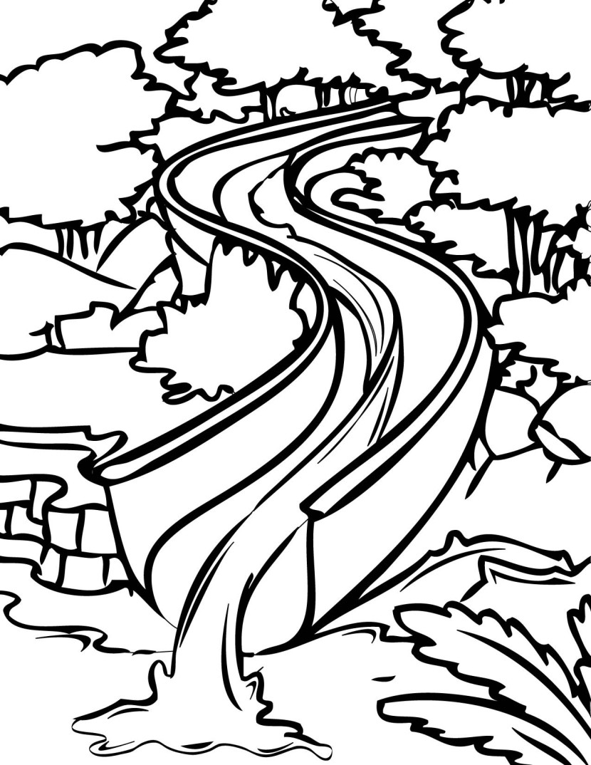 coloring with water best water slide clip art 12704 clipartioncom coloring water with
