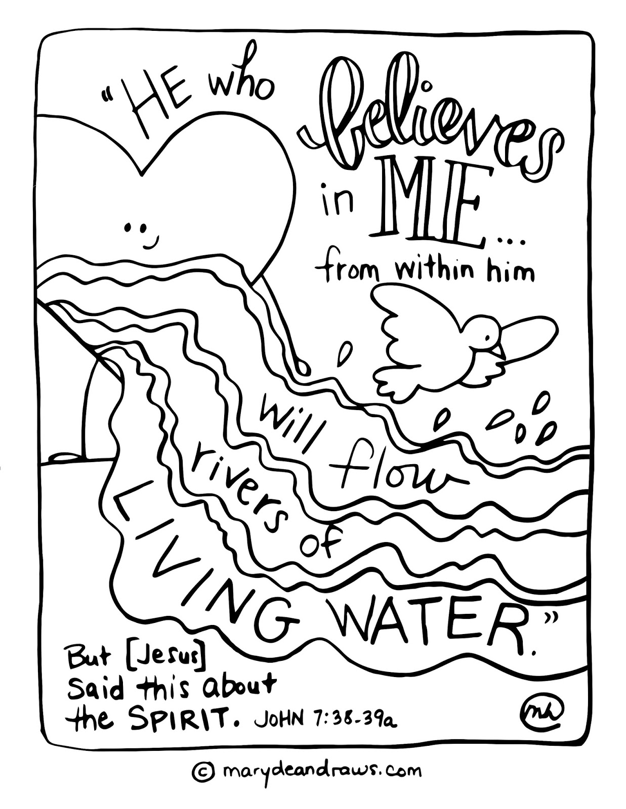 coloring with water i39m praying a new prayer rivers of living water coloring with water