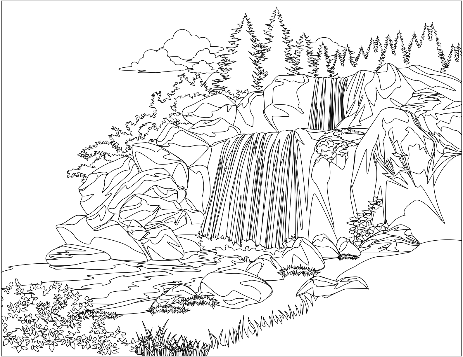 coloring with water water fall coloring pages learny kids with coloring water