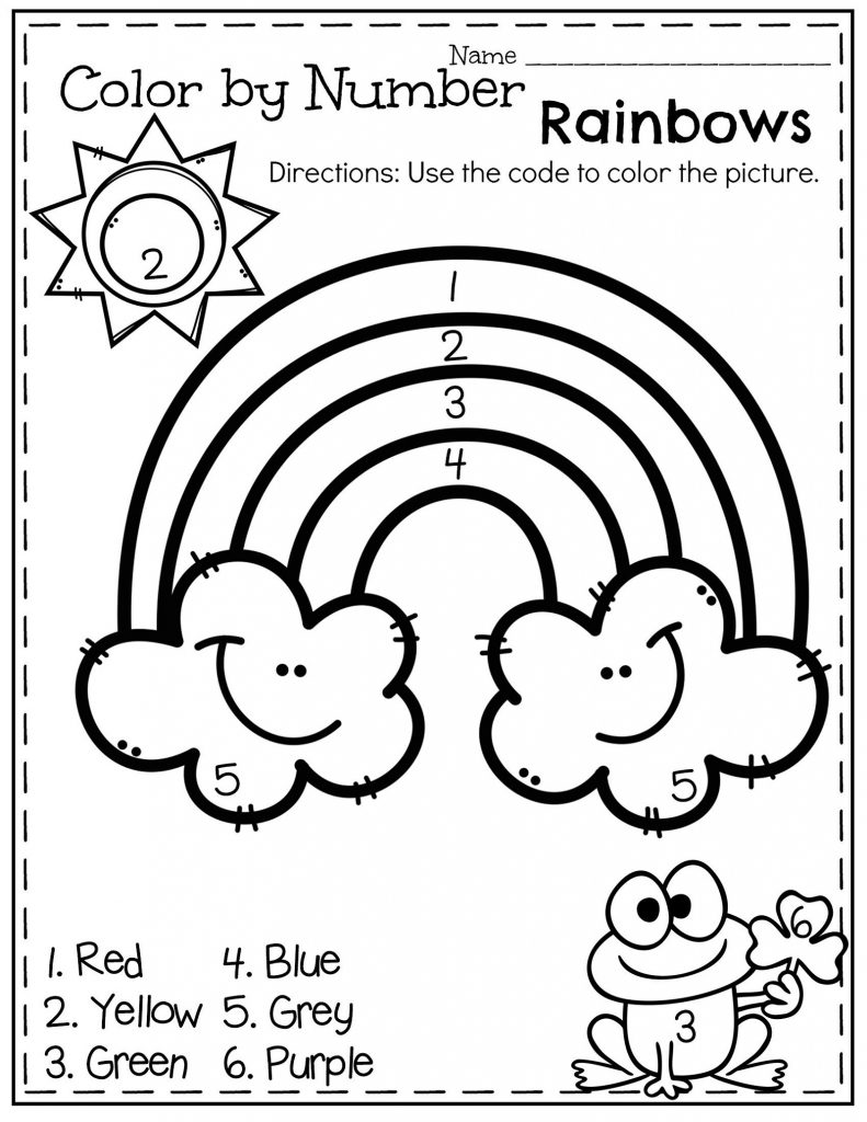 coloring worksheet easy easy color by number worksheets for kindergarten 101 coloring easy worksheet