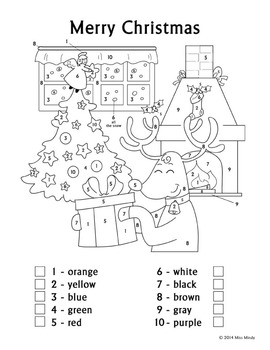 coloring worksheets english christmas fun color by number reindeer coloring page coloring english worksheets