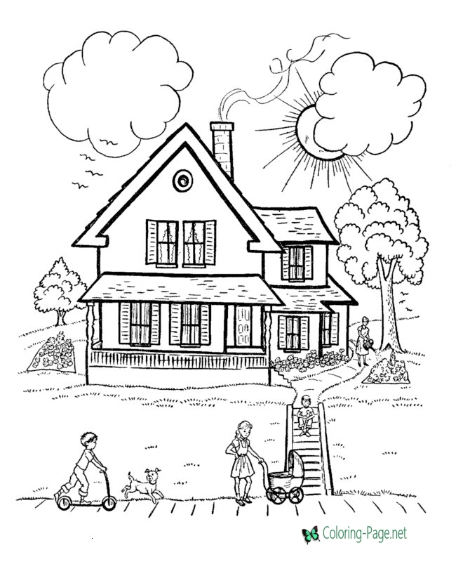 coloring worksheets house free printable house coloring pages for kids worksheets coloring house