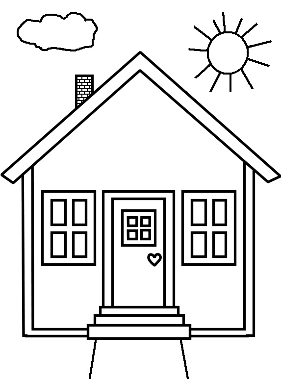coloring worksheets house home coloring page twisty noodle worksheets house coloring