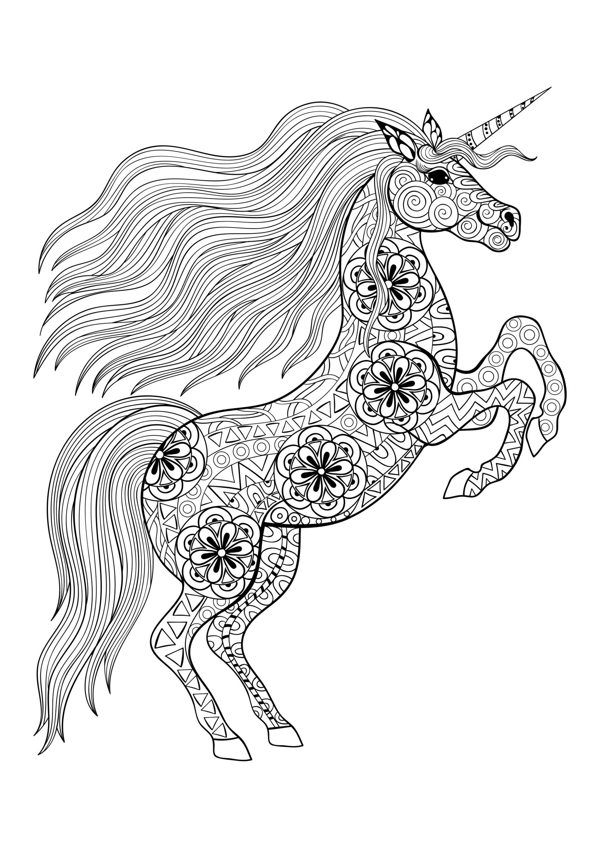coloring worksheets unicorn realistic unicorn coloring pages download and print for free worksheets coloring unicorn