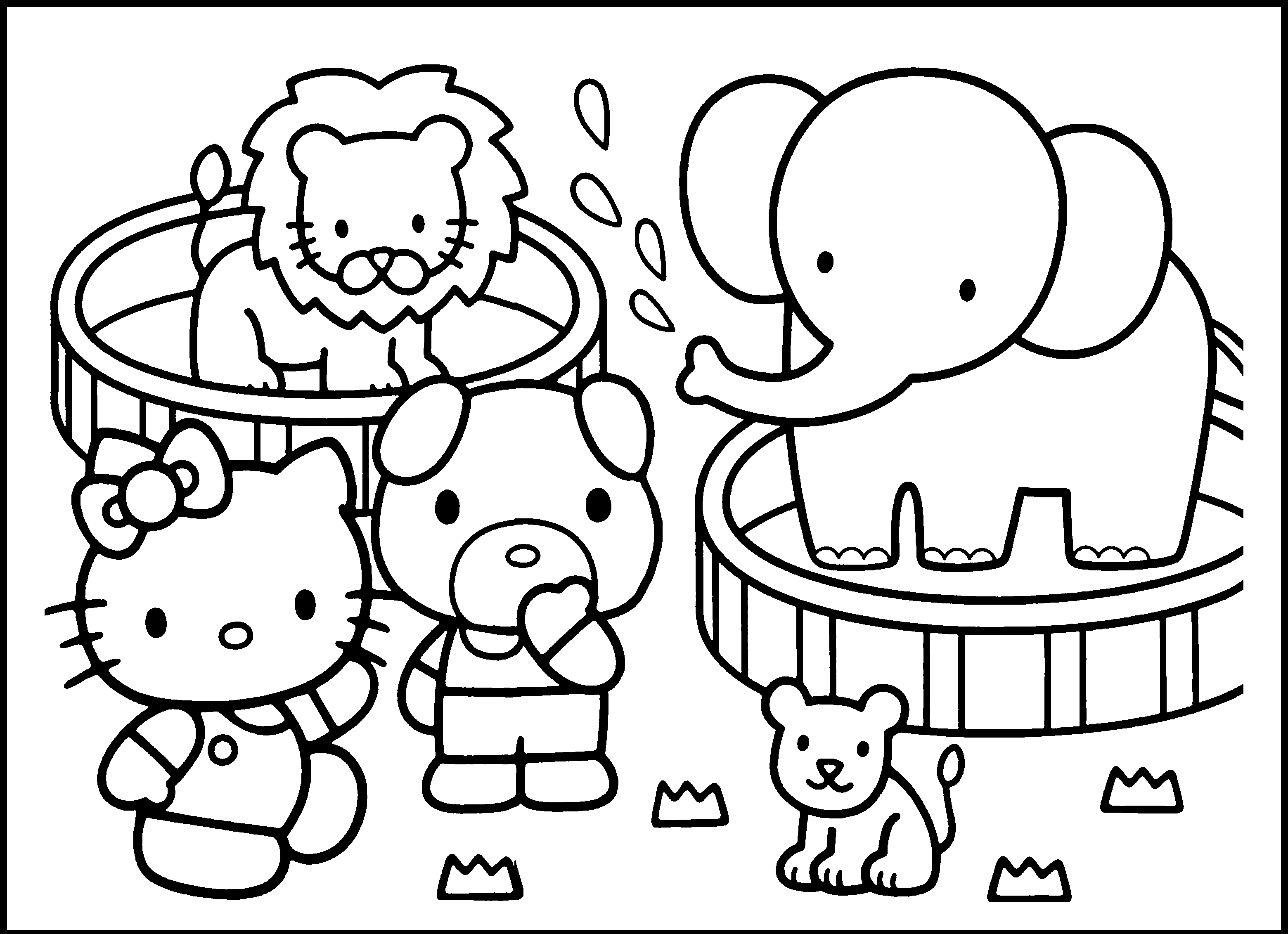 coloring zoo animals clipart black and white clip art baby animals tiger cub bw abcteach zoo white black clipart and coloring animals