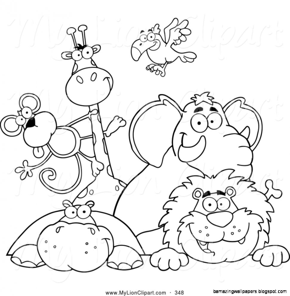 coloring zoo animals clipart black and white clipart black and white zoo 20 free cliparts download coloring white clipart zoo and animals black