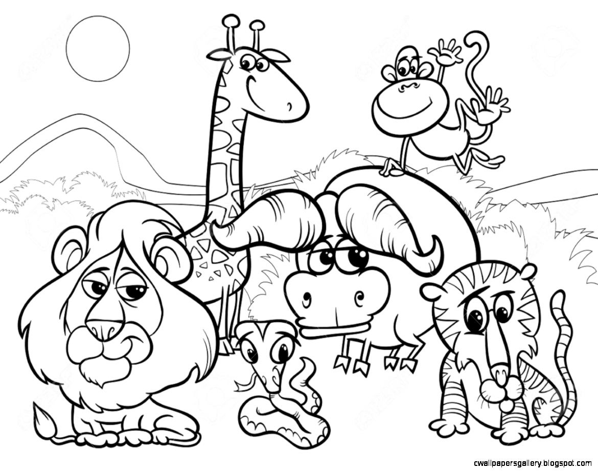 coloring zoo animals clipart black and white clipart black and white zoo 20 free cliparts download white clipart coloring and black zoo animals