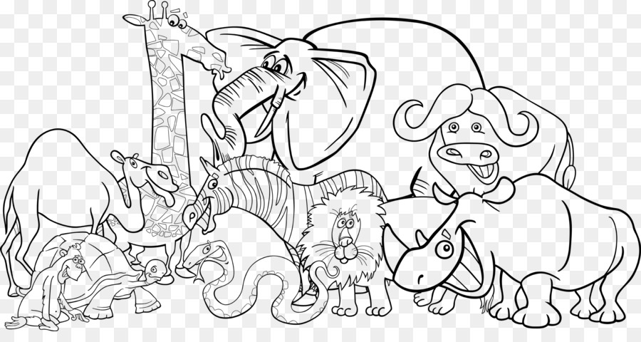 coloring zoo animals clipart black and white royalty free rf clipart illustration of a coloring page coloring white and black zoo clipart animals