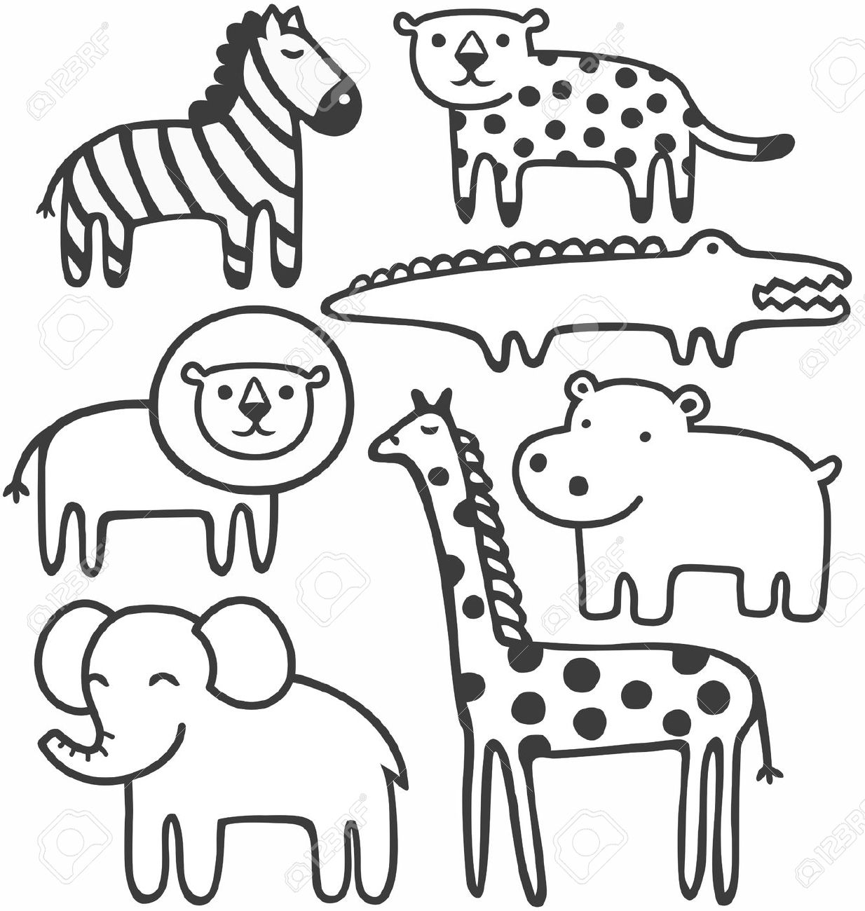 coloring zoo animals clipart black and white zoo animals clipart black and white 1 clipart station clipart white coloring zoo animals black and