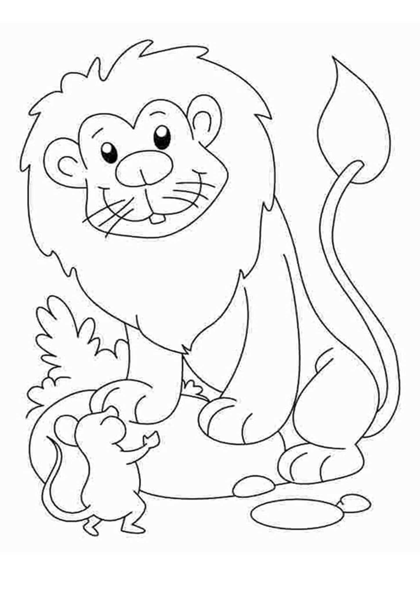 colour in lion free printable lion coloring pages for kids lion in colour