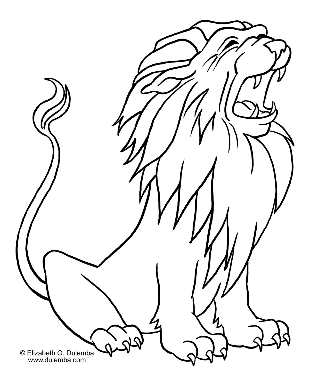 colour in lion lion coloring pages kidsuki colour in lion