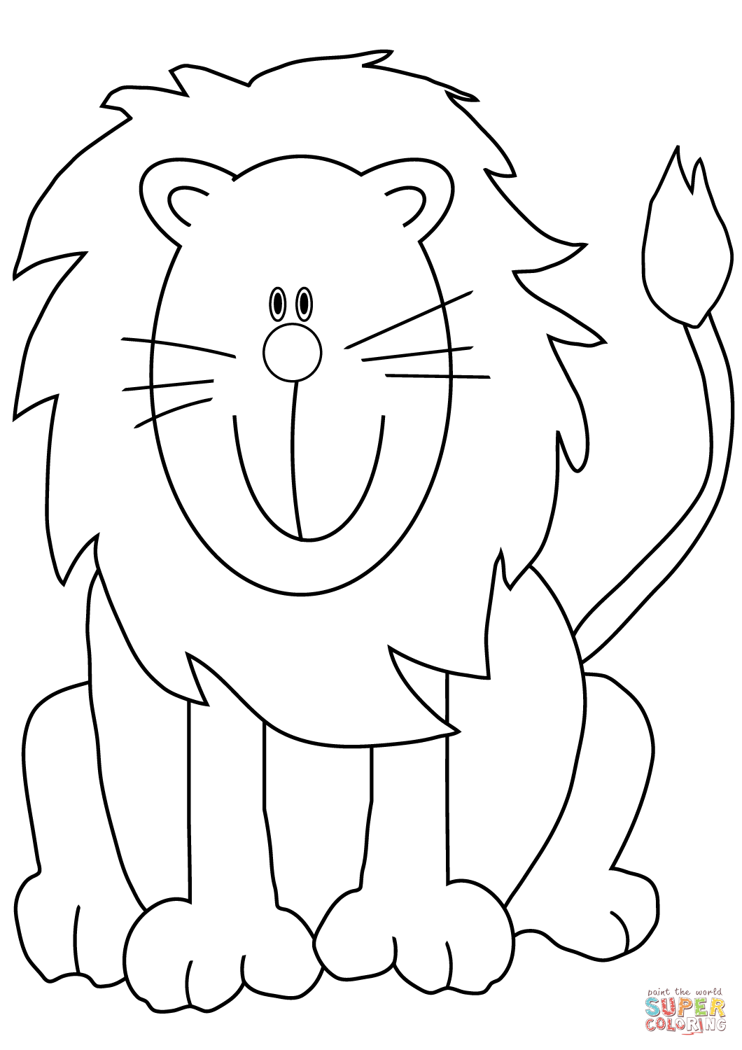 colour in lion lion to print for free lion kids coloring pages colour lion in