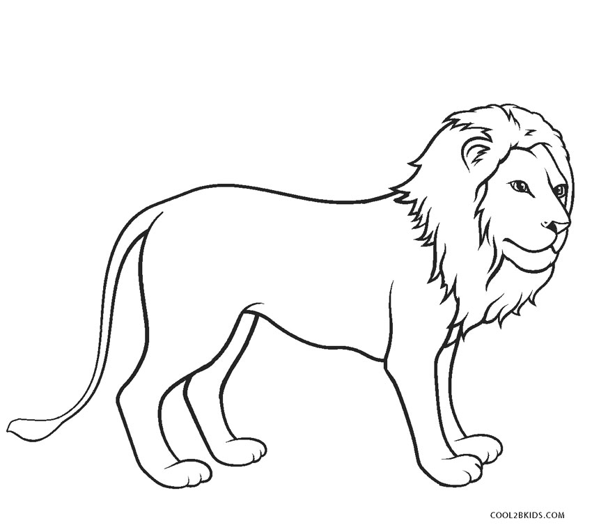colour in lion lions coloring pages coloring kids coloring kids colour in lion