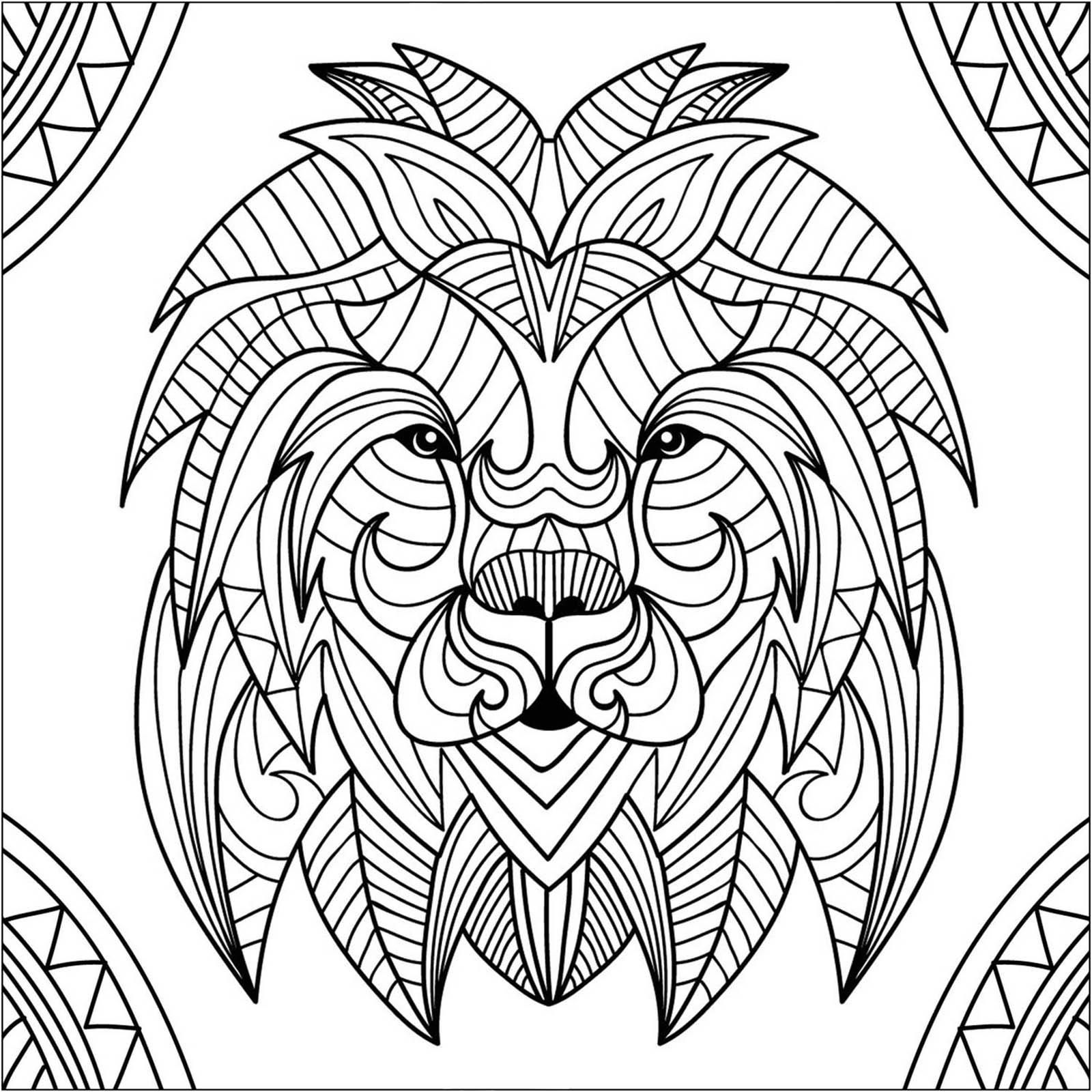 colour in lion lovely cartoon lion coloring page free printable colour in lion