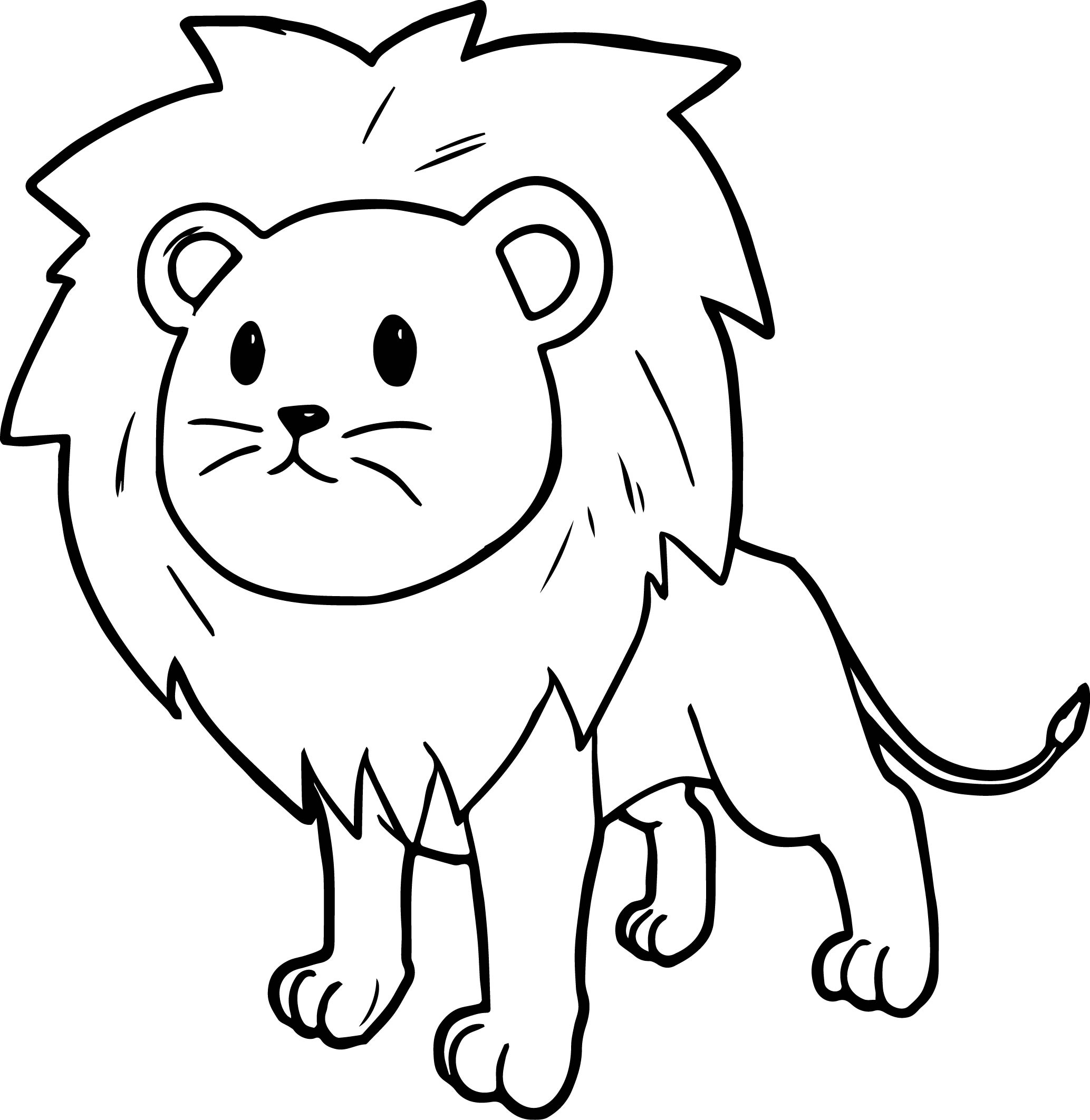 colour in lion north african lion coloring cswd lion in colour