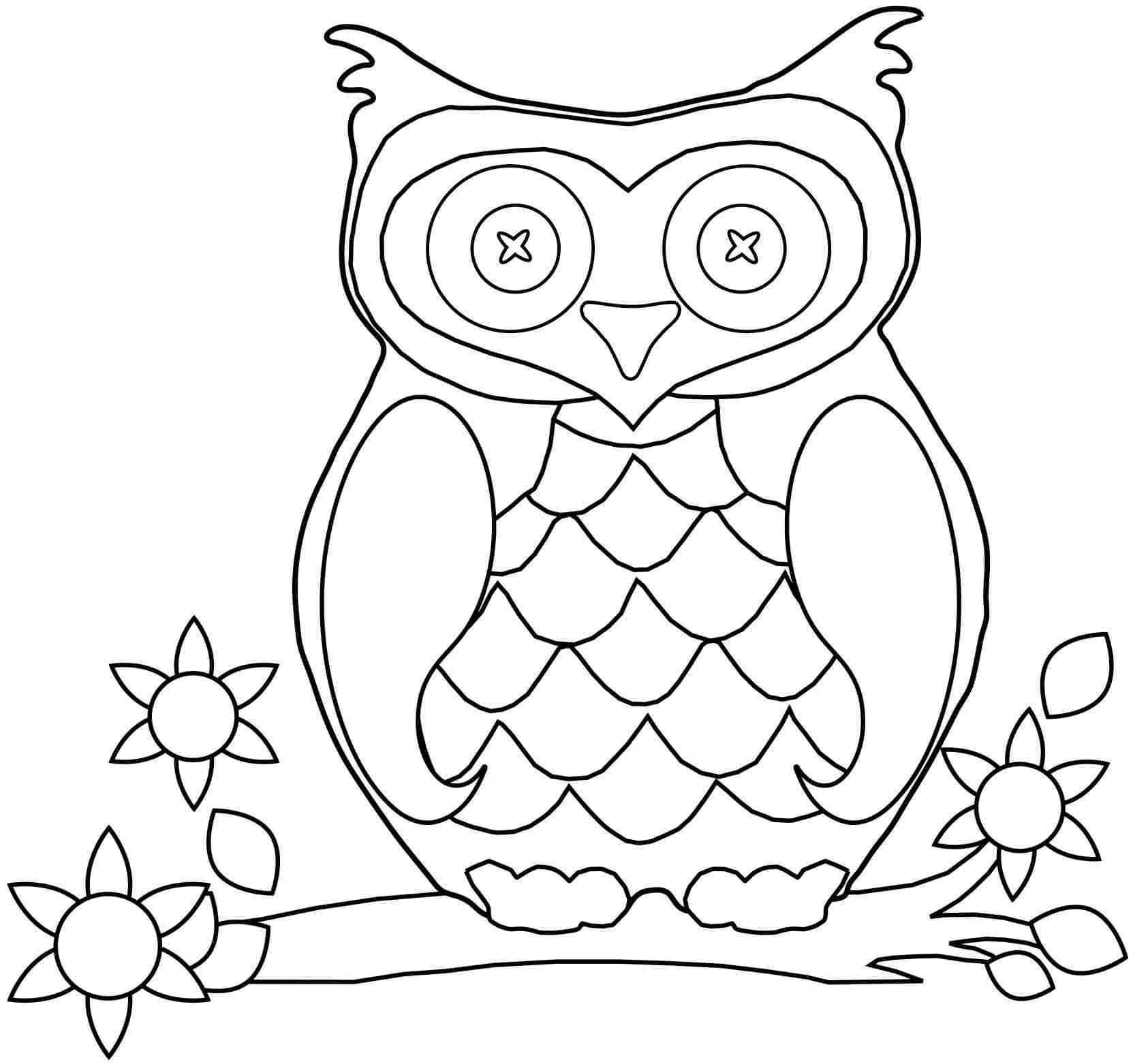 colouring owl print download owl coloring pages for your kids owl colouring