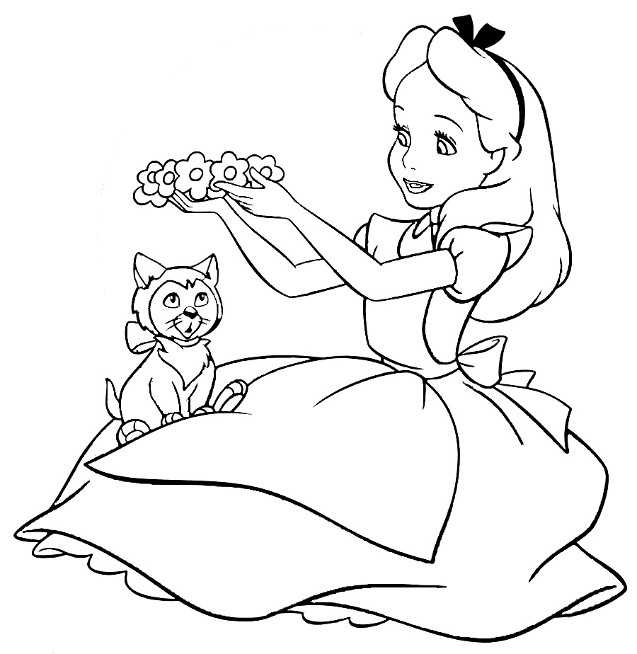 colouring pages alice in wonderland alice coloring page coloring home alice pages wonderland colouring in