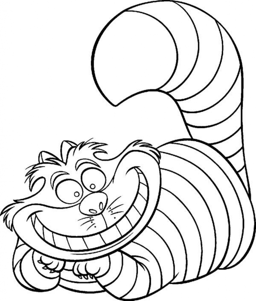 colouring pages alice in wonderland alice in wonderland disney cheshire cat free download on pages in colouring wonderland alice