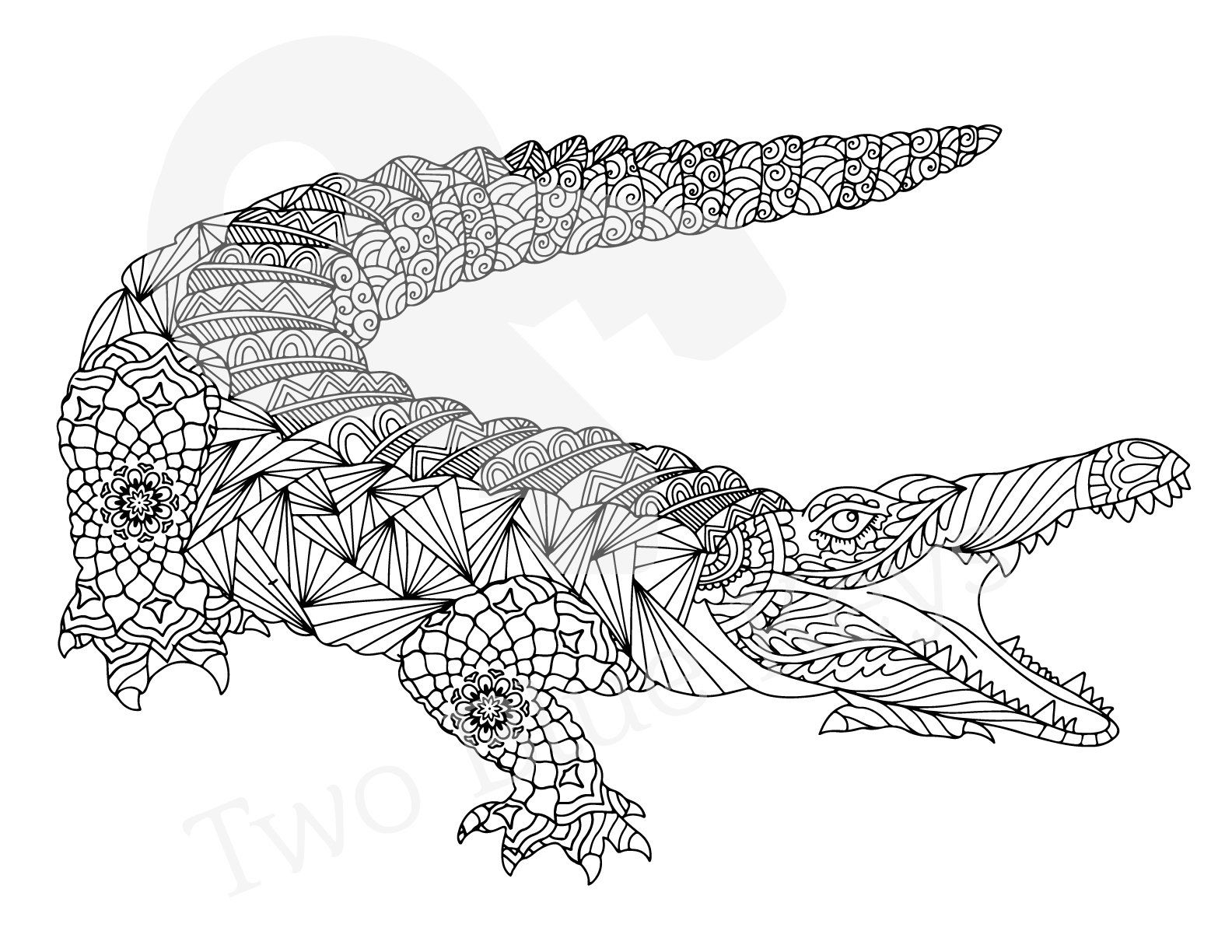 colouring pages crocodile crocodile coloring page digital illustration for instant colouring crocodile pages
