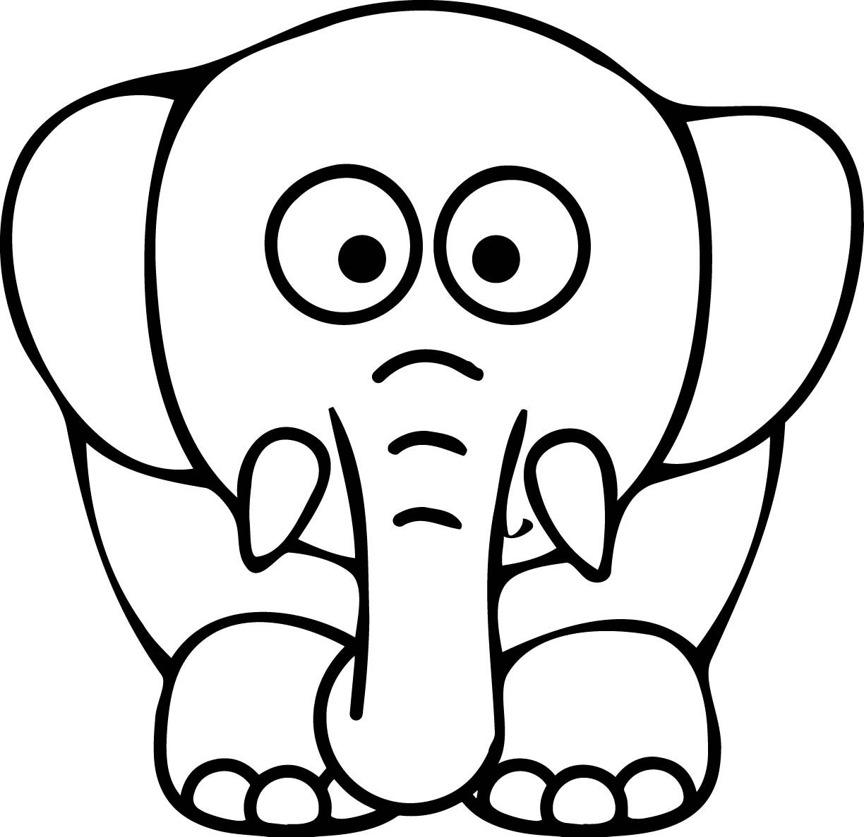 colouring picture of elephant baby elephant cartoon drawing at getdrawings free download picture elephant of colouring