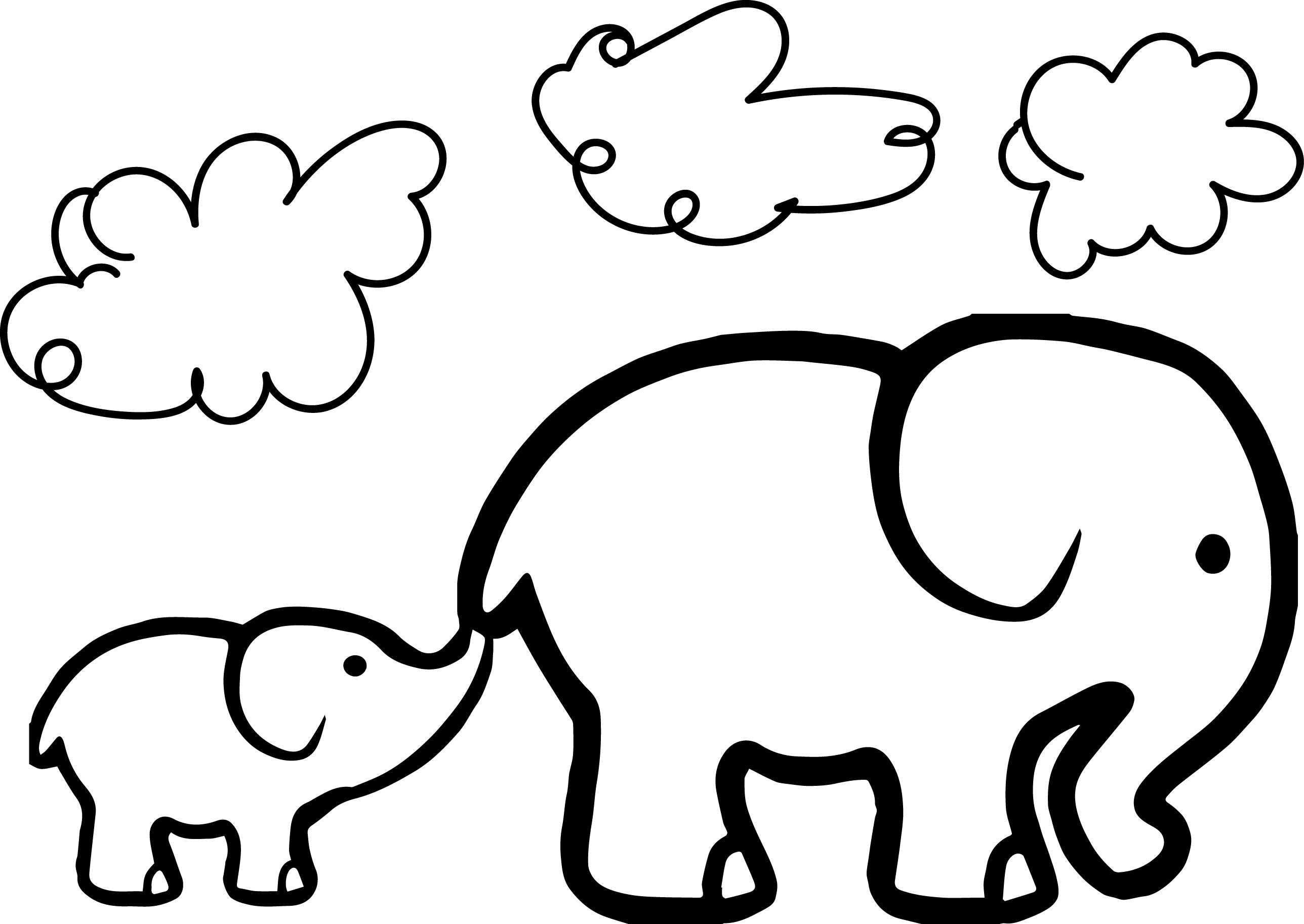 colouring picture of elephant elephant drawing tumblr at getdrawings free download picture colouring elephant of
