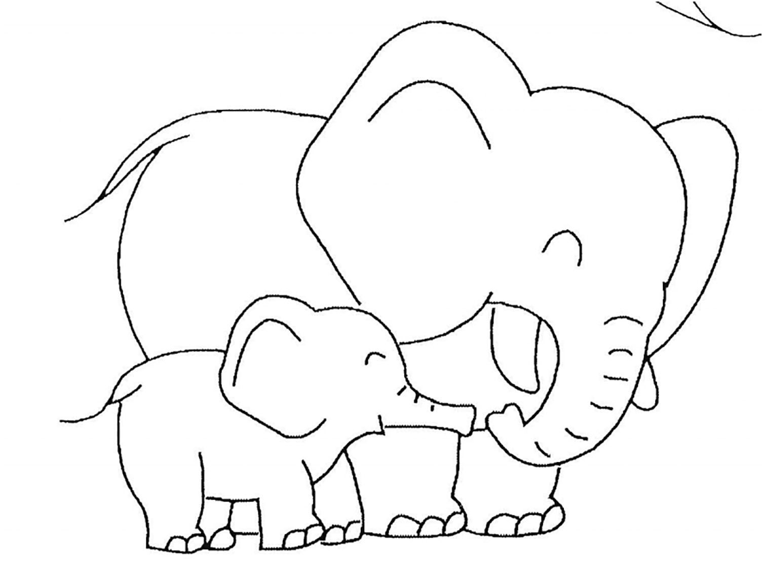 colouring picture of elephant elephants free to color for kids elephants kids coloring colouring of elephant picture