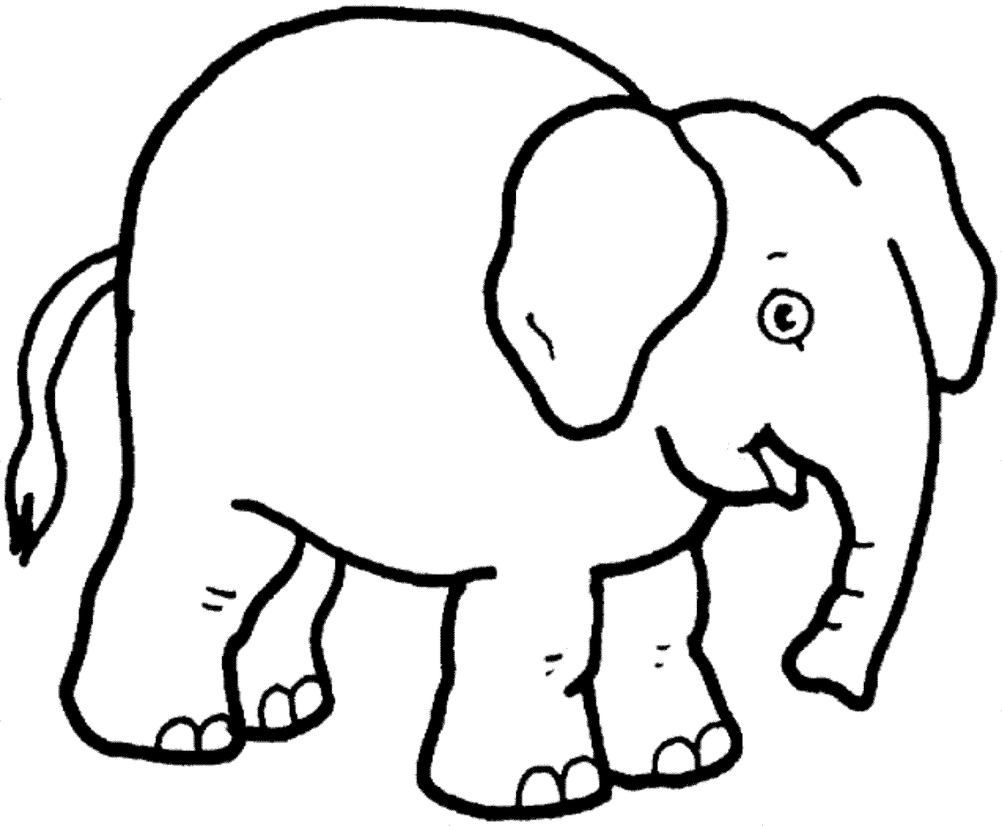 colouring picture of elephant print download teaching kids through elephant coloring colouring elephant of picture 1 1