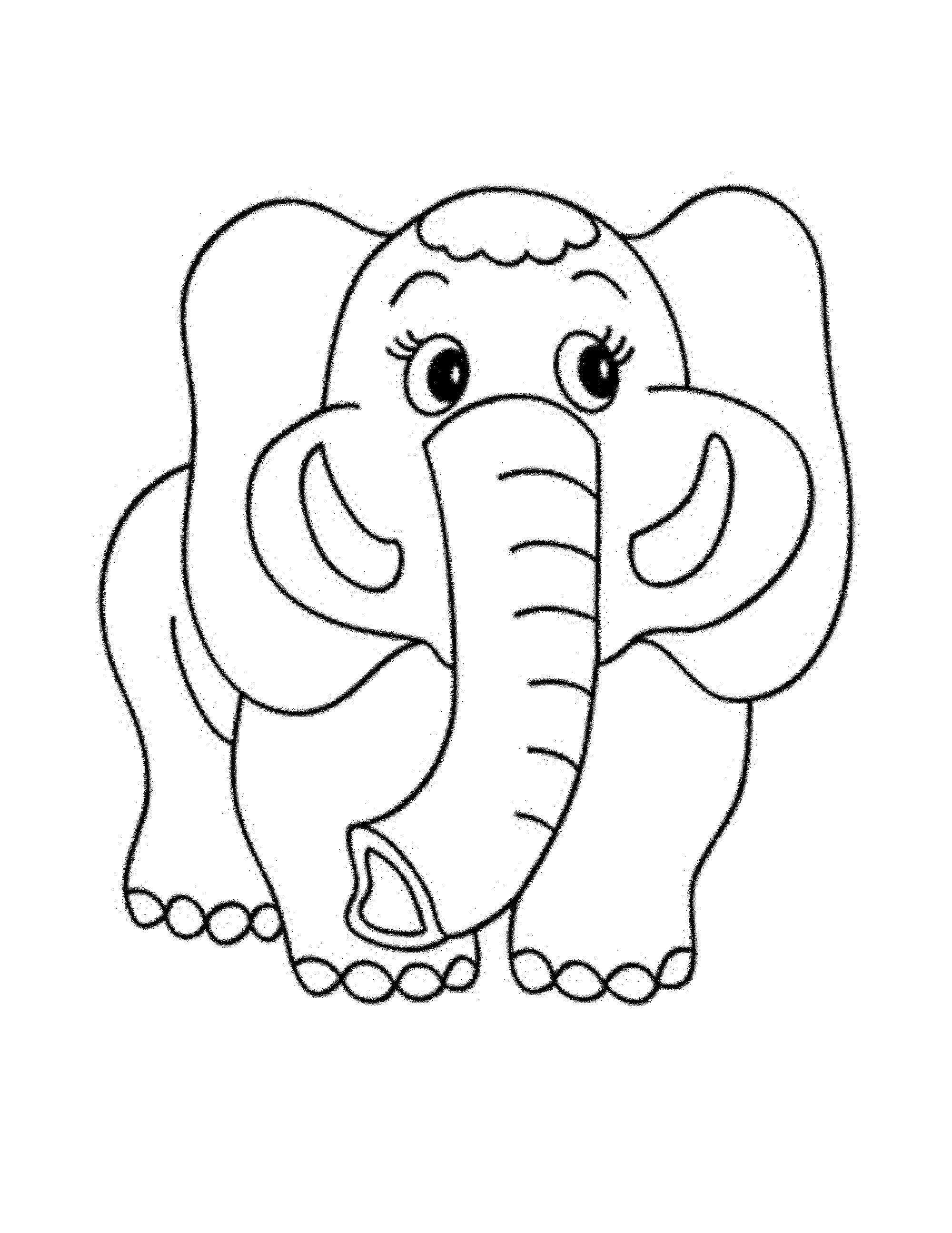 colouring picture of elephant print download teaching kids through elephant coloring colouring of elephant picture