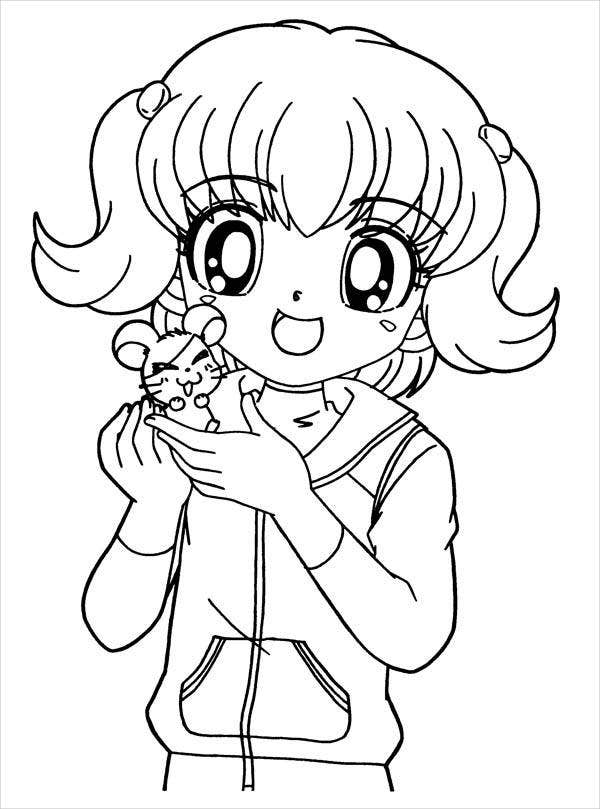 colouring picture of girl 8 anime girl coloring pages pdf jpg ai illustrator girl colouring of picture
