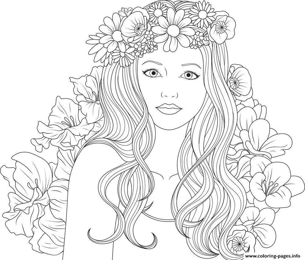 colouring picture of girl adult coloring page girl portrait and clothes colouring girl of colouring picture