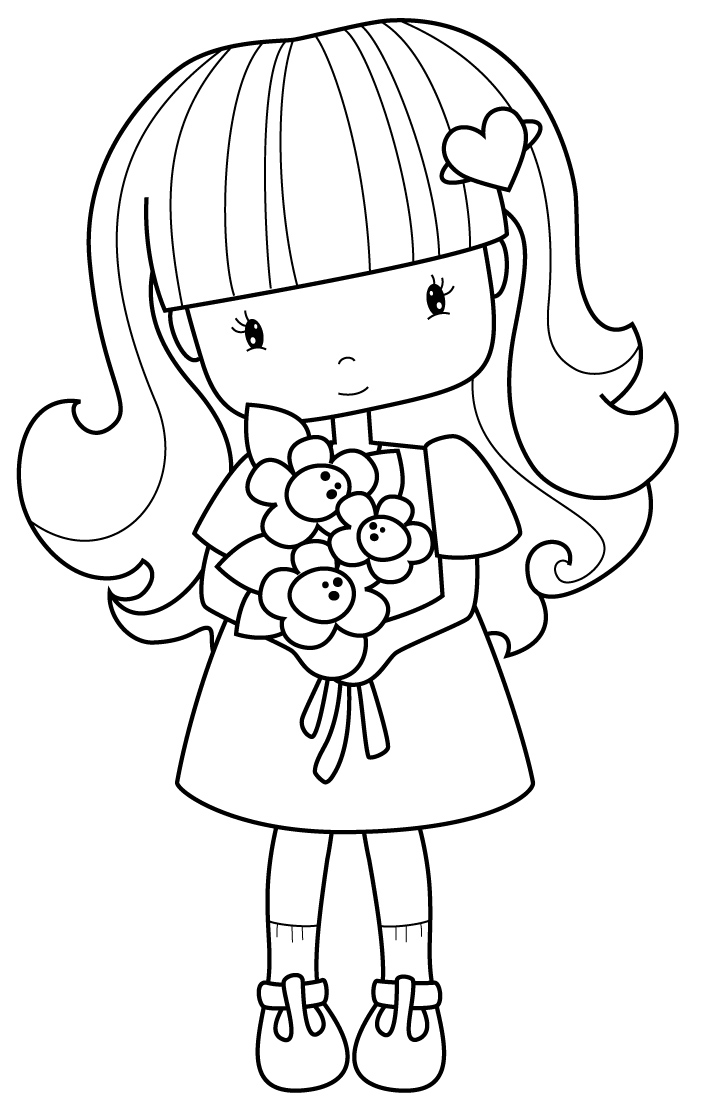 colouring picture of girl download little girl coloring for free designlooter 2020 picture girl of colouring