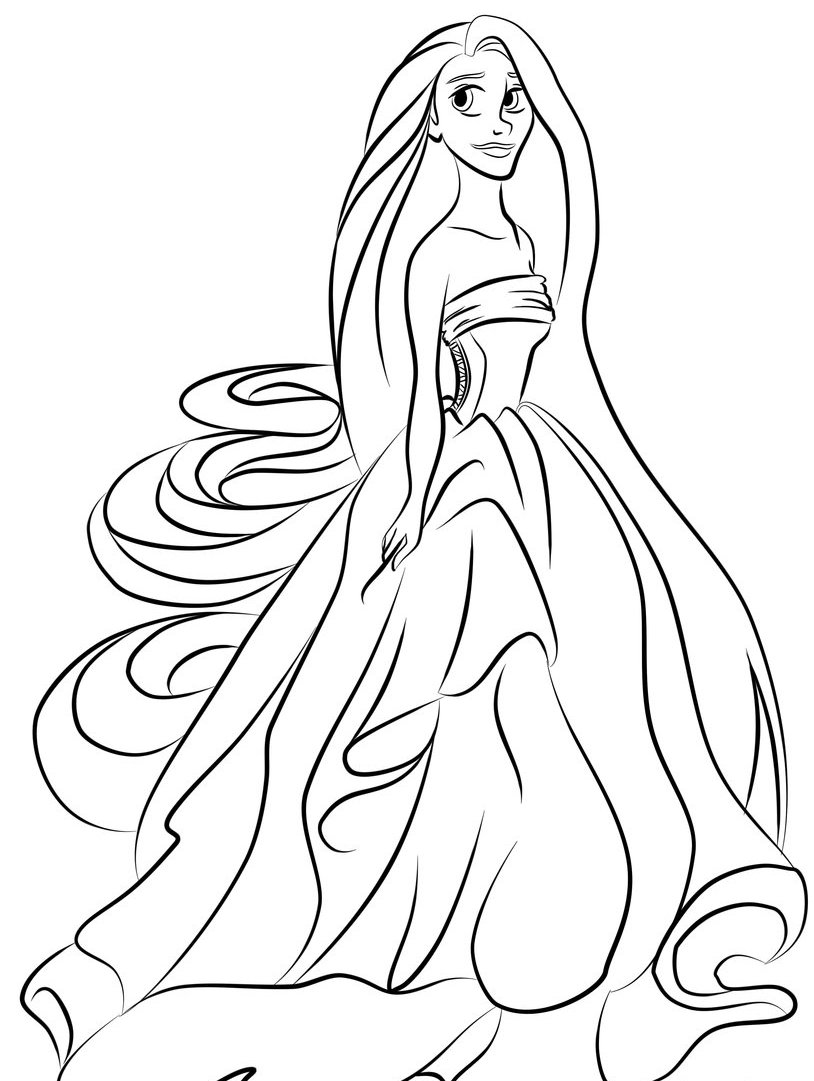 colouring picture of girl girl coloring pages coloringrocks colouring girl of picture