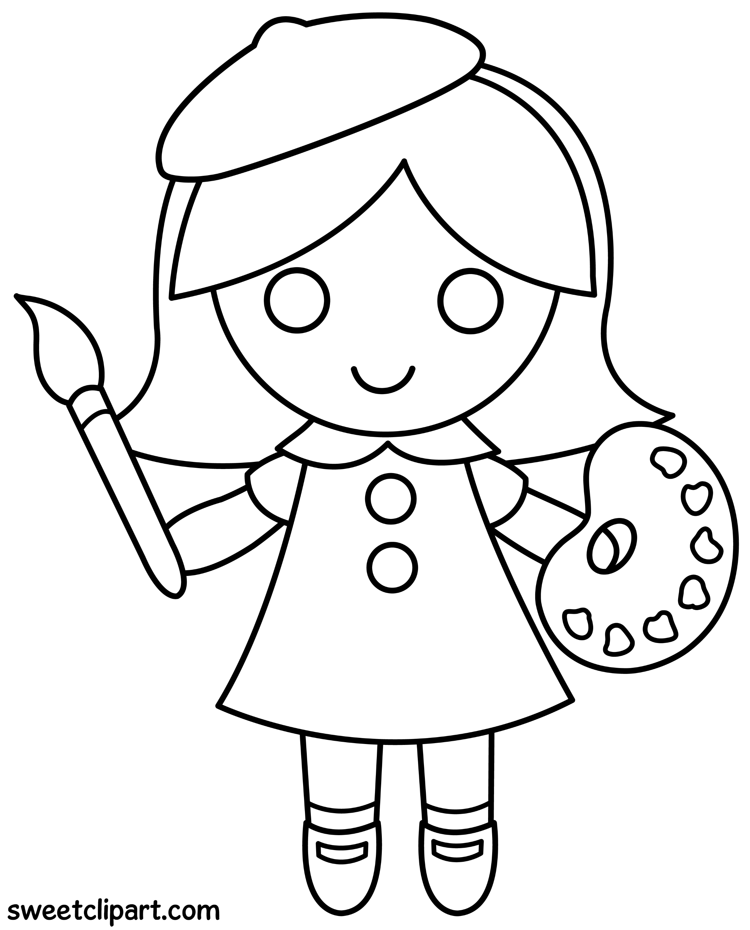 colouring picture of girl little girl coloring pages getcoloringpagescom girl picture colouring of