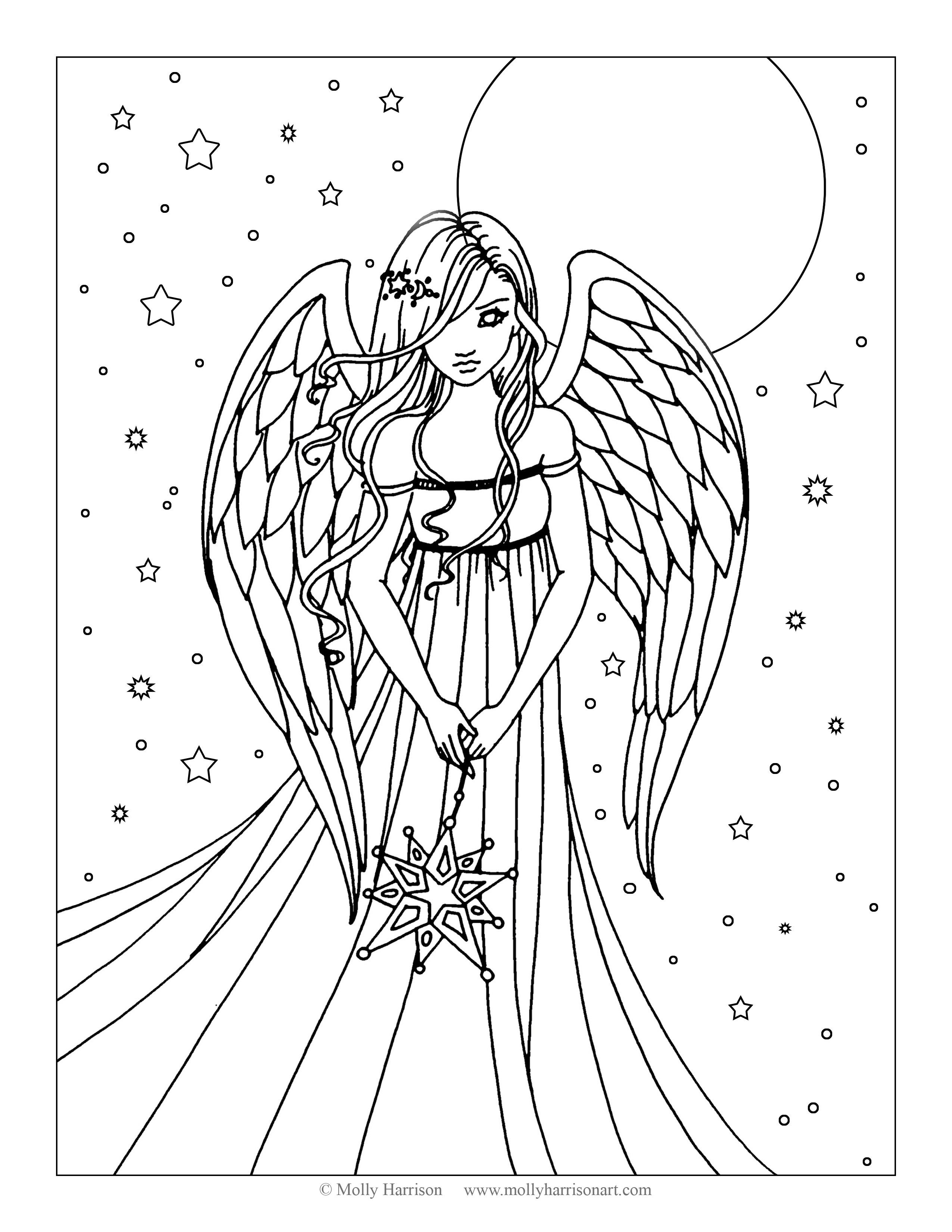 colouring pictures of angels angel coloring pages coloringrocks angels of pictures colouring
